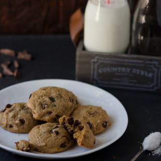 chocolate chip espresso cookies. A delicious alternative to a traditional chocolate chip cookies