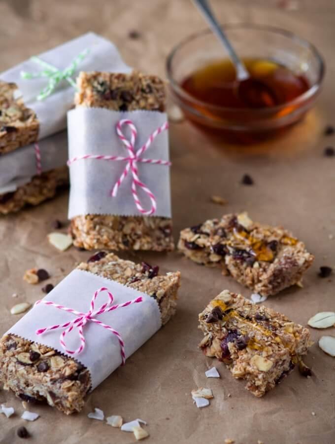 Healthy Homemade Peanut Butter & Honey Granola Bars