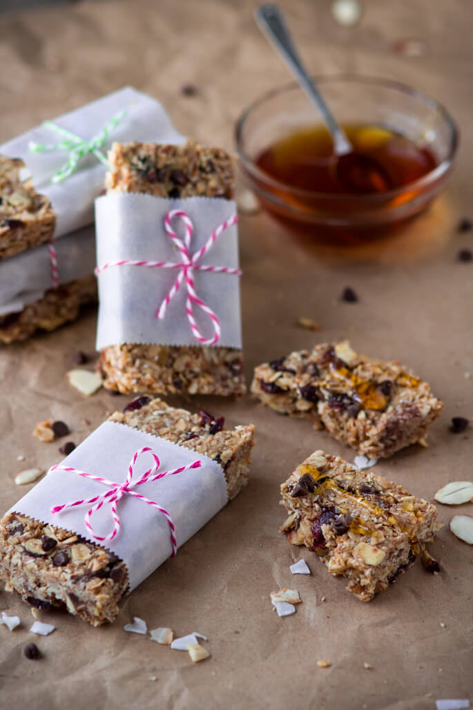 Healthy Homemade Honey Peanut Butter Granola Bars