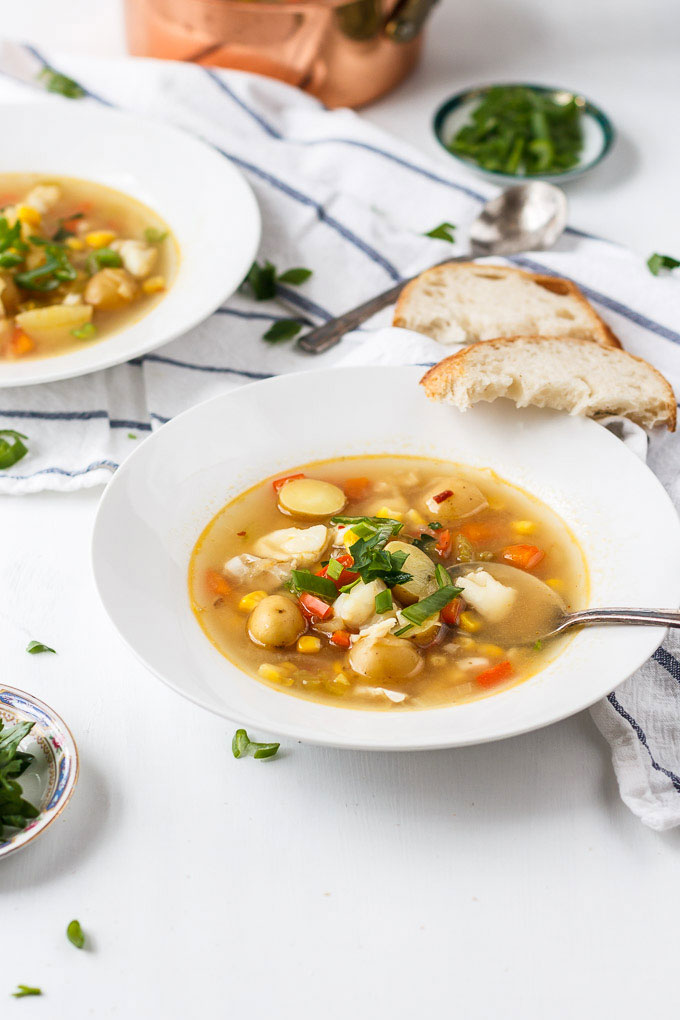 how to make light soup with fish