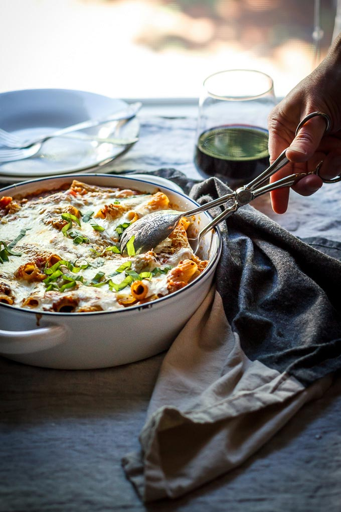 Lighter Ground Beef Pasta Casserole