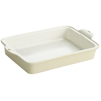 "Lodge Stoneware Baking Dish, 9"" x 13"", Color Oyster White"