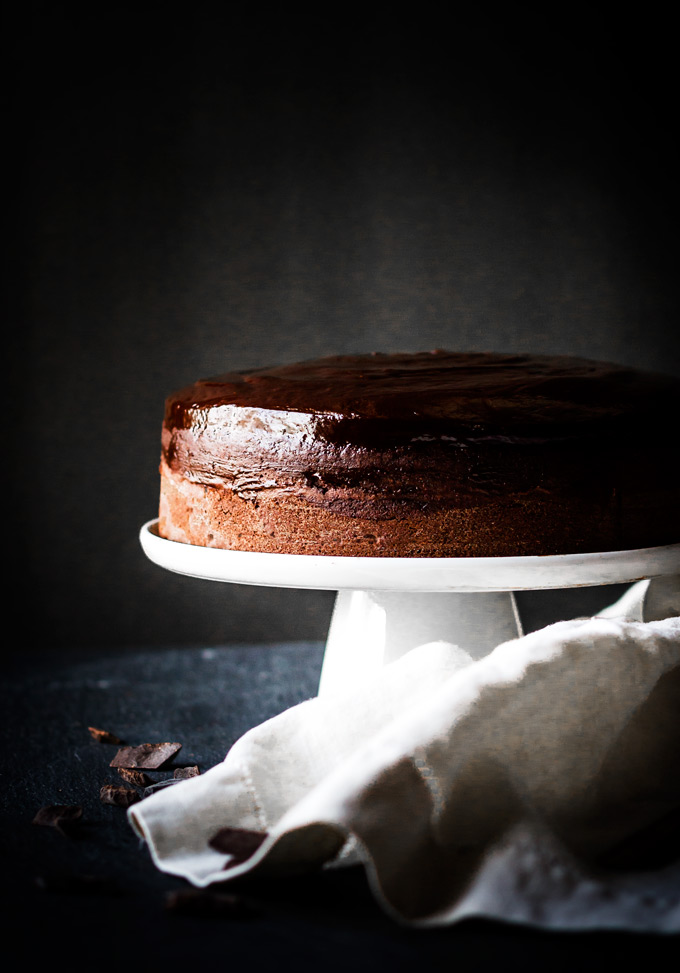 This Baileys chocolate cake with chocolate ganache recipe is a pure chocolate pleasure. Perfect for St. Patrick's Day, Valentine's Day, special occasions or simply when you crave for chocolate. If you love chocolate and Irish cream liquor, then this cake is a must try. You will be rewarded with the gorgeous rich chocolate cake with a shiny flavorful ganache on top.