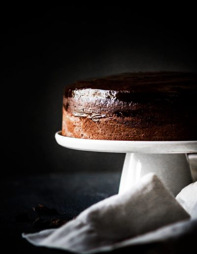 This Baileys chocolate cake with chocolate ganache recipe is a pure chocolate pleasure. Perfect for St. Patrick's Day, Valentine's Day, special occasions or simply when you crave for chocolate. If you love chocolate and Irish cream liquor, then this cake is a must try. You will be rewarded with the gorgeous rich chocolate cake with a shiny flavorful ganache on top. #cake #chocolate #chocolatecake #baileys #irishcream #dessert