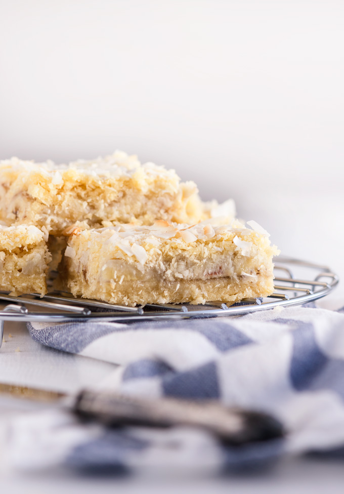 Easy and Elegant Banana Coconut Bars