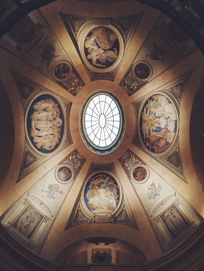 Boston Museum of Fine Arts ceiling. This picture is a part of Weekend Planner Things To Do and Thoughts To Share post on The Pure Taste Blog.