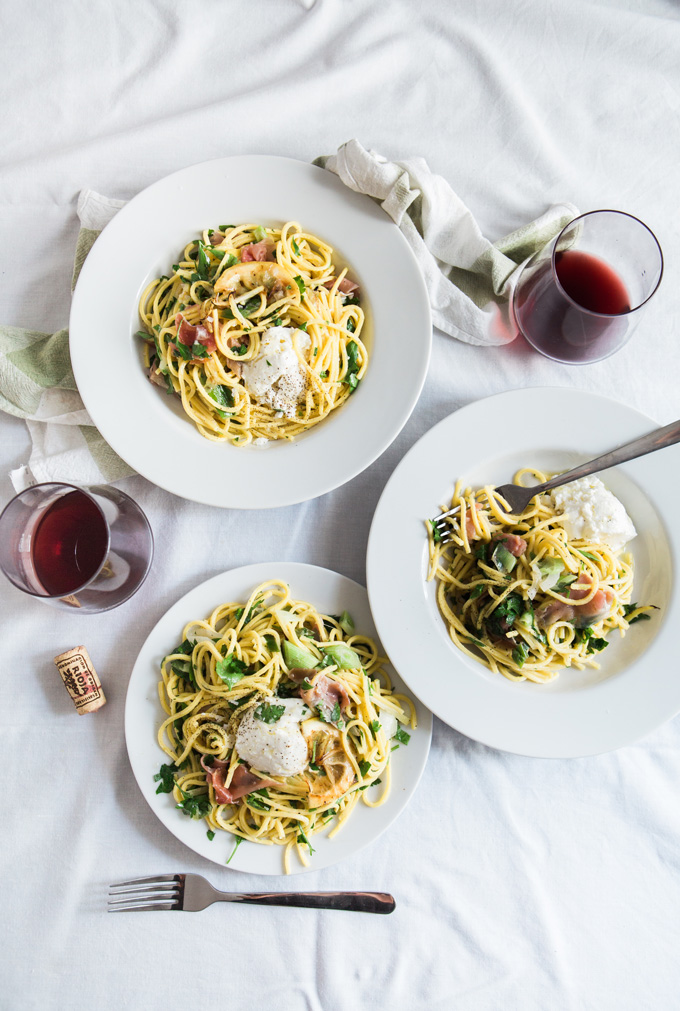 Pasta and wine dinner. This picture is a part of 21 romantic and inspiring things to do in spring. I hope you will find some inspiration in the list to unwind and reenergize after a long winter. The list includes free, fun and inspiring spring things to do. Find some weekend ideas in this post to have the most fantastic time.