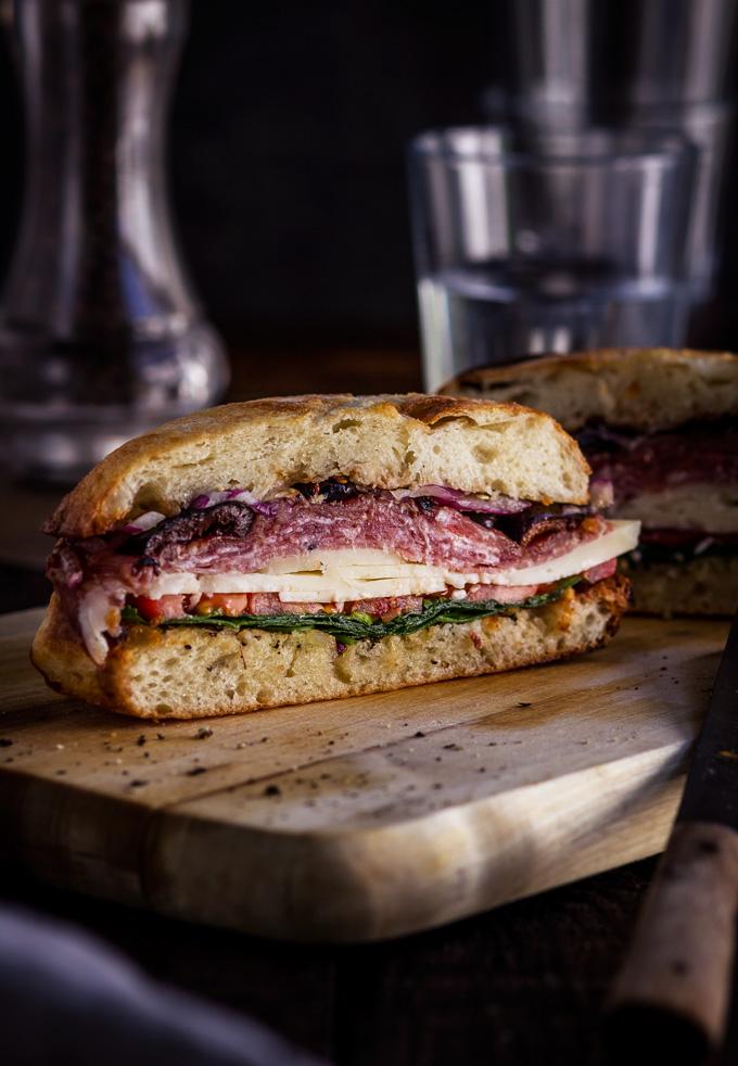 Famous New Orleans Easy Muffuletta Sandwich Recipe The