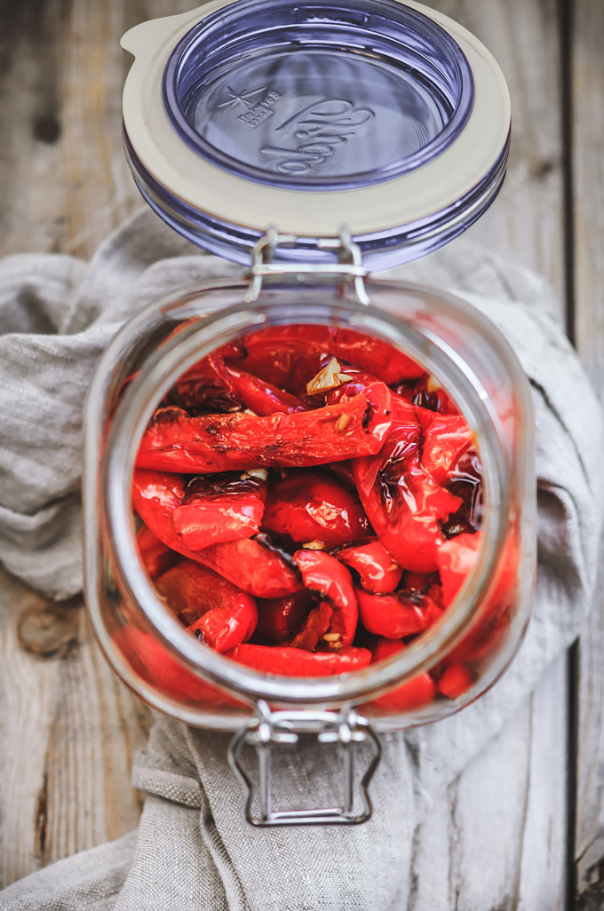 How To Make Oven Roasted Peppers and Marinate Them