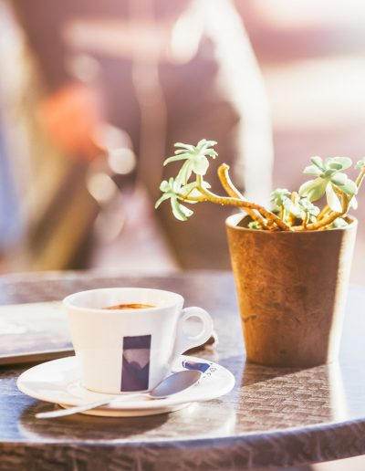 Spending morning with cup of coffee in local café. This picture is part of the Friday Coffee Date from the Pure Taste Blog. Grab a coffee or tea and join me there for some fun and discussion.
