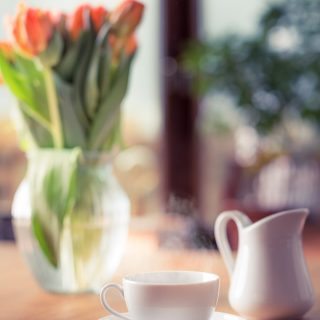 Spending morning with a cup of coffee and beautiful tulips. This picture is part of the Friday Coffee Date from the Pure Taste Blog. Grab a coffee or tea and join me there for some weekly features, offerings, and some discussion.