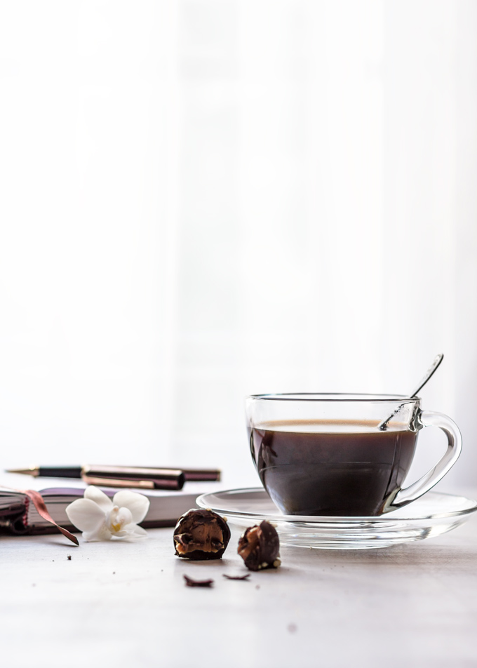Morning coffee with chocolate truffles and notepad to plan the day. This picture is part of the Friday Coffee Date from the Pure Taste Blog. Grab a coffee or tea and join me there for some weekly features, offerings, and some discussion. See you there!