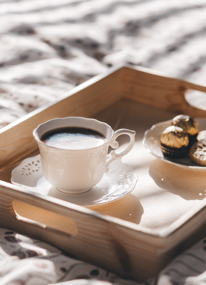 Morning coffee in bed with some tasty treats. This picture is part of the Friday Coffee Date from the Pure Taste Blog. Grab a coffee or tea and join me there for some weekly features, offerings, and some discussion. See you there!
