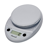 Escali Primo Digital Kitchen Scale (11 lb/ 5 kg Capacity) (0.05 oz/ 1 g Increment) Premium Food Scale for Baking, Cooking, and Mail - Lightweight and Durable Design - Lifetime ltd. Warranty - Chrome